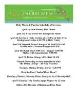 Holy Week & Pascha Services